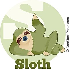 ABC Cartoon Sloth - Vector image of the ABC Cartoon Sloth