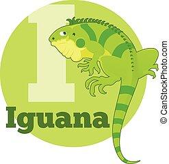 ABC Cartoon Iguana - Vector image of the ABC Cartoon Iguana