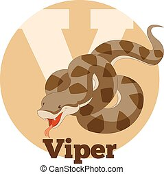 ABC Cartoon Viper - Vector image of the ABC Cartoon Viper