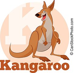 ABC Cartoon Kangoroo - Vector image of the ABC Cartoon...