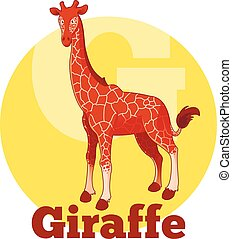 ABC Cartoon Giraffe - Vector image of the ABC Cartoon...