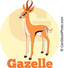 ABC Cartoon Gazelle - Vector image of the ABC Cartoon...