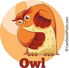 ABC Cartoon Owl
