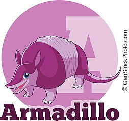 ABC Cartoon Armadillo - Vector image of the ABC Cartoon...