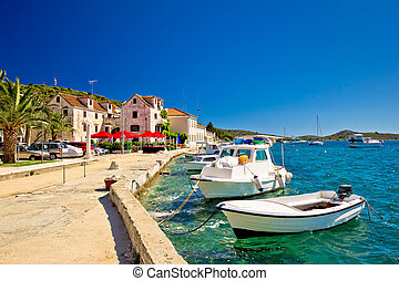 Town of Rogoznica on Adriatic coast summer view, Dalmatia,...