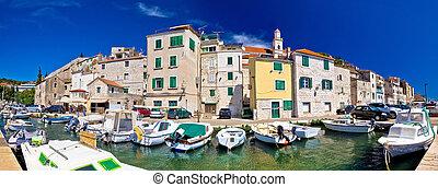 Sibenik historic waterfront panoramic view, Dalmatia,...