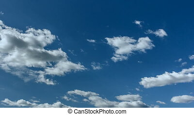 Fast Motion Clouds on Blue Sky. - Timelapse - Fast Motion...