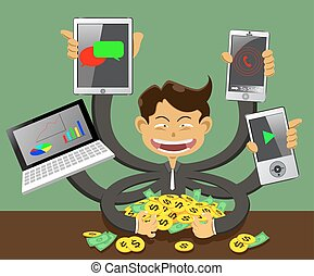 success business and finance - illustration success business...