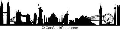 world landmark group in black