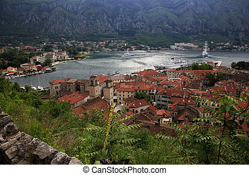 Kotor - View of the Kotor and Kotor Bay. Montenegro