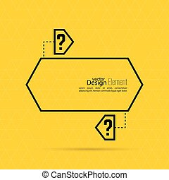 Question mark blank template Help symbol FAQ sign icon Empty...