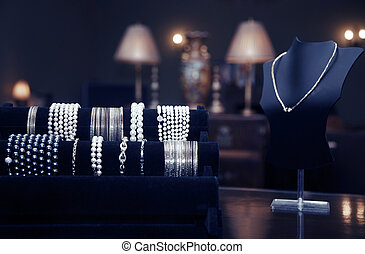 Jewelry shop - Assortment of jewelry in a jewelry shop....