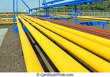 Yellow gas pipes