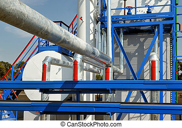 Fuel Tanks and Gas Pipes - White fuel tanks and color gas...