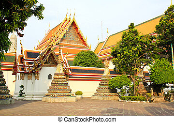 Authentic Thai Architecture in Wat Pho at Bangkok of...