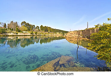 Corinth canal - Corinth Isthmus Gre - landscape of Corinth...