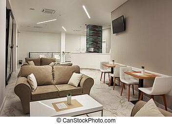 Hotel Interior Modern Design - Interior of a modern hotel,...