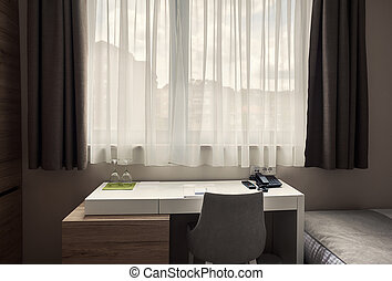 Beside The Window - Interior of a modern room, details of a...
