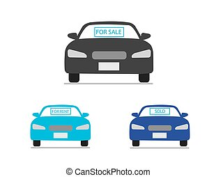 Car for sale icons