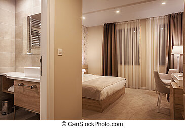 Hotel Apartment Interior - Interior of a hotel room, view on...