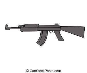 automatic gun - This is an illustration of automatic gun