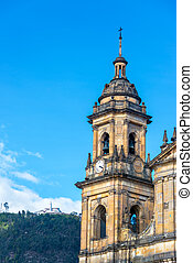 Bogota Cathedral Spire - Spire of the primary cathedral in...