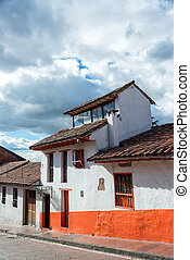 Historic Building in Bogota - Colonial architecture in La...