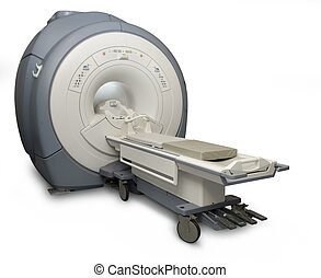 MRI isolated - Magnetic Resonance Imaging machine isolated...
