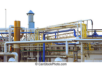 Industry - complex industrial pipes and ductwork