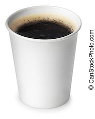 Coffee in take away cup isolated on white with clipping path...