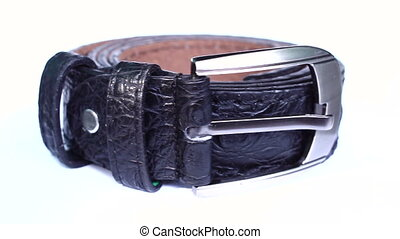 belt on isolated - close up belt on isolated white...