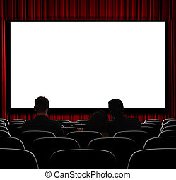 Waiting for the Show to Start - A movie theater showing...