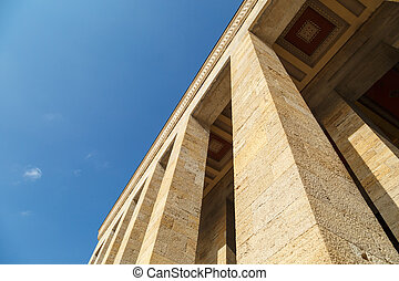 Mausoleum of Ataturk - Bottom view of Anitkabir, mausoleum...