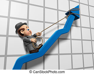 Wilfred Inclining Graph - 3D illustration of Wilfred...