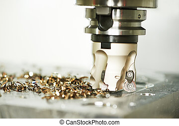 industrial metalworking cutting process by milling cutter -...