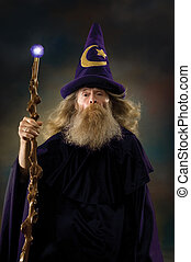 Wizard Portrait - Wizard with posing for a portrait