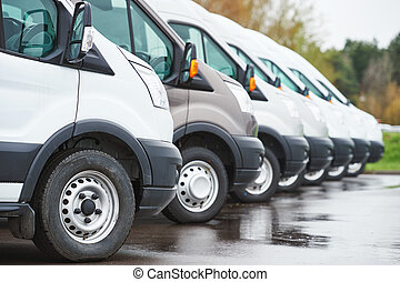 transporting service company. commercial delivery vans in...