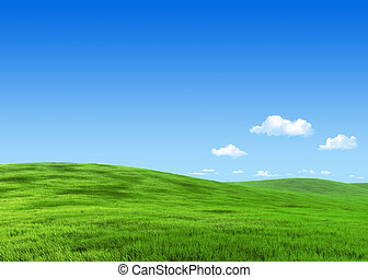 7000px nature collection - Green meadow template -...