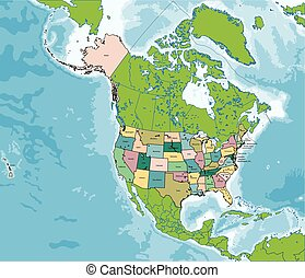 The United States of America map - The United States of...
