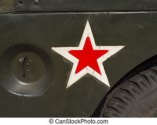 Red Star Marking on Military Vehicle