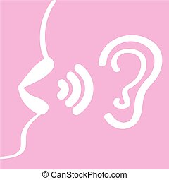 women's lips say, in your ear