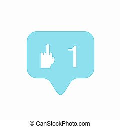 vector modern middle finger up icon isolated on white...