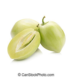 pepino melon on white background.