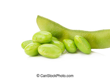 boiled green soy beans