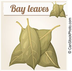 Bay leaves. Detailed Vector Icon