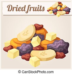 Detailed Icon Dried fruits Series of food and drink and...