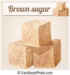 Brown sugar. Detailed Vector Icon