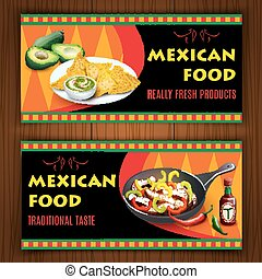 Mexican traditional food on flat ba - Mexican traditional...
