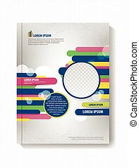 Brochure geometric shapes, lines and circles, business...