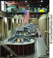 Hydroelectric Turbines - Hydro electric turbines at the...